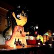 秋祭りの夜を楽む会津坂下町