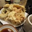 町の蕎麦屋「満留賀ーまるかー」で天ざると蕎麦焼酎などを楽しんだ。
