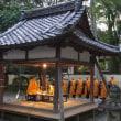 「大覚寺」の「宵弘法」。先祖を敬い霊を送る。「護摩祈願」と「送り火法要」など