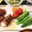 牛薄切り肉の豆腐巻きで夜ごはん