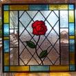 ステンドグラスパネル 赤いバラ