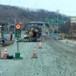 真冬の道路工事 !