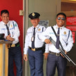 フィリピンの住宅地のセキュリティー