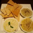 「hommus, babganoush, lebana, served with lavash」