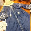刺繍ダンガリーワンピース