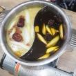 点心食べ放題と美肌コラーゲン火鍋の欲張りなコース@ 香港屋台 カンフーキッチン カレッタ汐留店(汐留)
