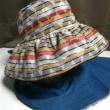 久留米絣×黒 リバーシブル帽子
