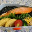 のり鮭弁当とオレオマフィン