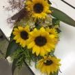 可愛い、ひまわりの花束。