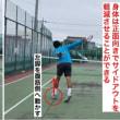 ■アプローチショット 低い打点から打つバックハンドスライスのポイント①「後ろ脚の使い方」〜才能がない人でも上達できるテニスブログ〜
