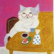 眼鏡をかけて酒を飲んでいるオジサン猫に会った日は、着物姿で自転車に乗る女性にも会いました