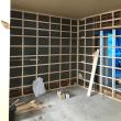 倉敷市玉島で某店舗さんの改修工事現場では天井石こうボード張り