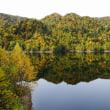 鏡の湖面 札幌湖