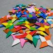 折り紙折ってました