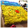 糸紡ぎとフェルトマット