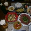 休日の晩ご飯と富士山溶岩・溶岩マリモ
