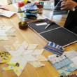 パッチワーク教室 デザインコースの様子