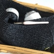 黒とシルバーのカゴバッグ