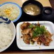 界隈・松屋 で 鶏のバター醤油炒め定食