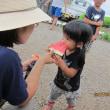 <夏の収穫祭>・スイカを食べよう(^^♪