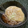 青森風に納豆を掻いて冷やし焼き海苔蕎麦に垂らす朝