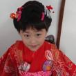 30.11.17 出張着付3件目は堺市東区、7歳の新日本髪と着付依頼でした。