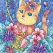 20170910猫イラスト。ねこ。手描き。アナログ。絵。