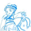 メディバンハーフトーンレイヤー機能で姑娘を描いてみた