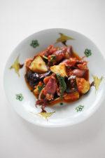 ホタルイカとナスのトマト煮