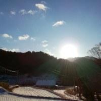 雪明け太陽