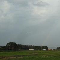 仕事帰りに見た虹
