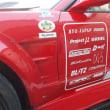【静電気対策:D1でお馴染みのノムケンさんのショップの競技車輌に宣伝で貼って下さった鬼ちゃん!!】私の目的は競技車輌とウェアー、ヘルメット類の静電気除去ですね!