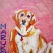 2018 marukoの 犬 ・・・・ 仲田丸子さんの作品 ( クレヨン画 ) ②