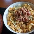 お昼ご飯は豚汁とツナサラダ