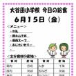 今日(6/15金)の給食