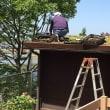 追加エクステリア工事完成。。。その1 屋根緑化のウッドハウス