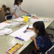 今日は、子ども絵画教室です。