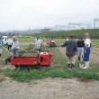 農研、秋冬野菜の圃場造りと播種・夏野菜の管理