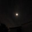 月食時の空の明るさ変化