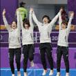 スピードスケート女子団体パシュート決勝、オランダに勝って金メダル!