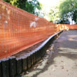 永楽台近隣公園で土留の工事がおこなわれました。工事場所がちょっと疑問の声が寄せられています。