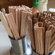 すす竹割り箸もちょっとの間登場です。