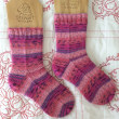 手編み靴下 作品NO.235