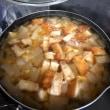 今朝は〜美味しい味噌汁と〜野菜炒め^^