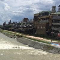 雨があがった後の鴨川