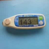 今朝の血糖値です。(´・ω・`)