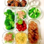 iwakiの容器で 常備菜