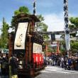 <大垣まつり> 神社前でからくり芸と少女の舞踊を奉納
