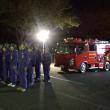 夜は、消防ポンプ操法競技大会出場分団の激励会に参加しました