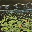 木版画 「瓢湖の蓮」